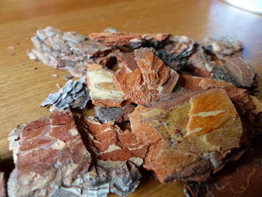 écorce de pin pour cuisiner des plats aux saveurs forestières.