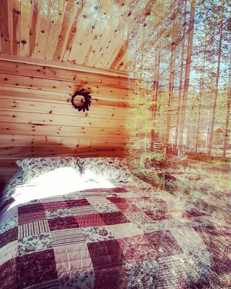camp de pêche en Laponie