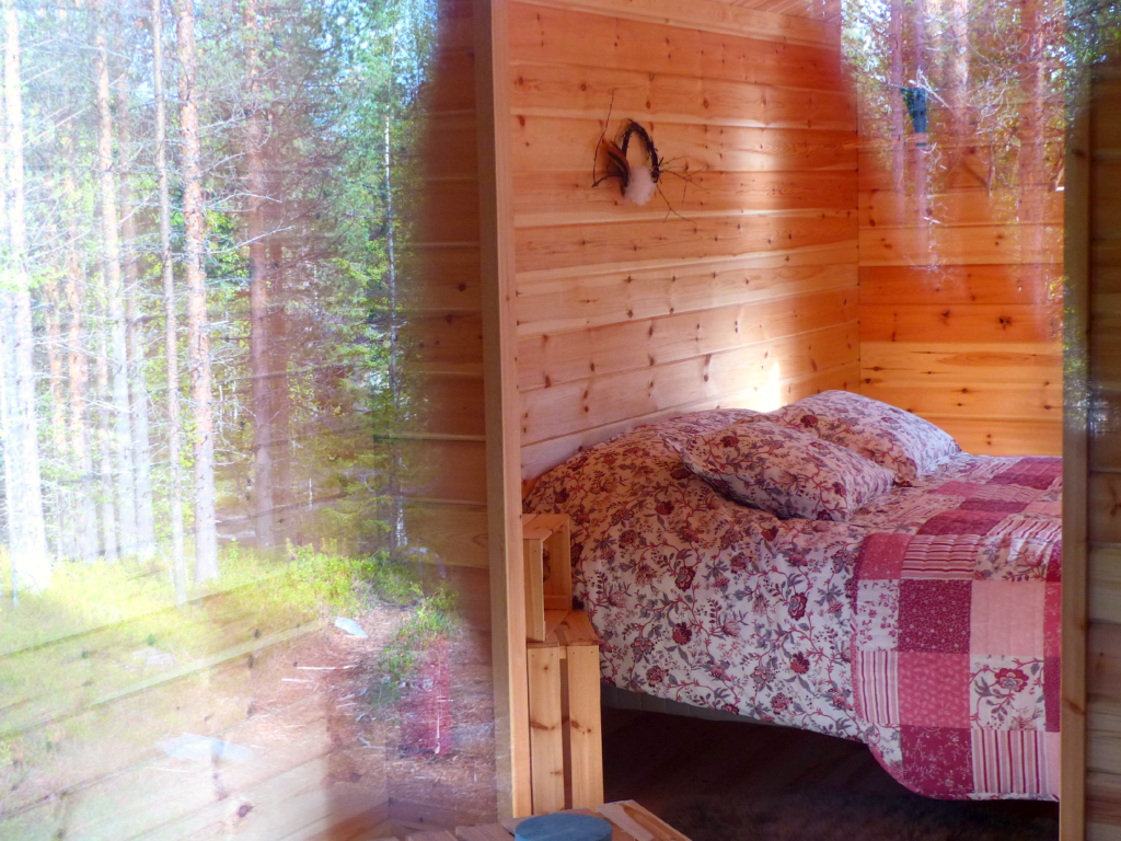 cosy cabin in the wood in Lapland